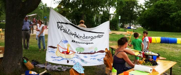 Waldorfkindergarten Böblingen bei Sommer am See 2015
